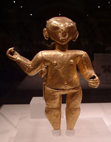 Gold figurine from South America
