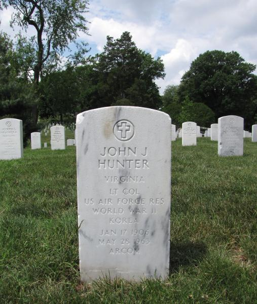 gravestone in Arlington National Cemetery