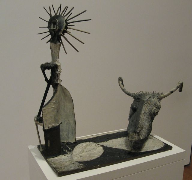 photo of sculpture by Picasso of a goat skill and statue