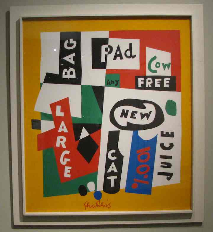 photo of Stuart Davis painting at LACMA