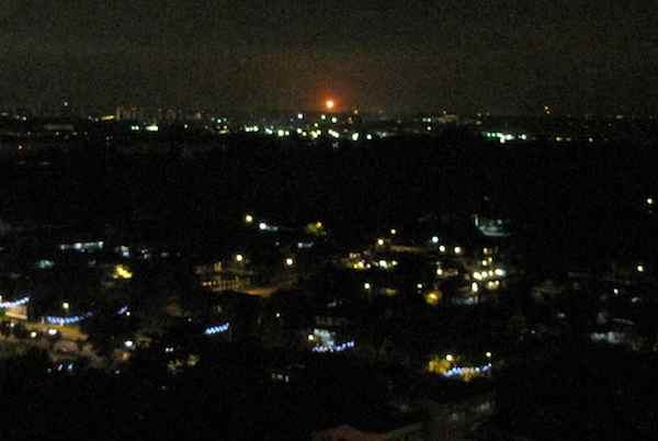 Long view of Johor Bahru-Singapore nights cape