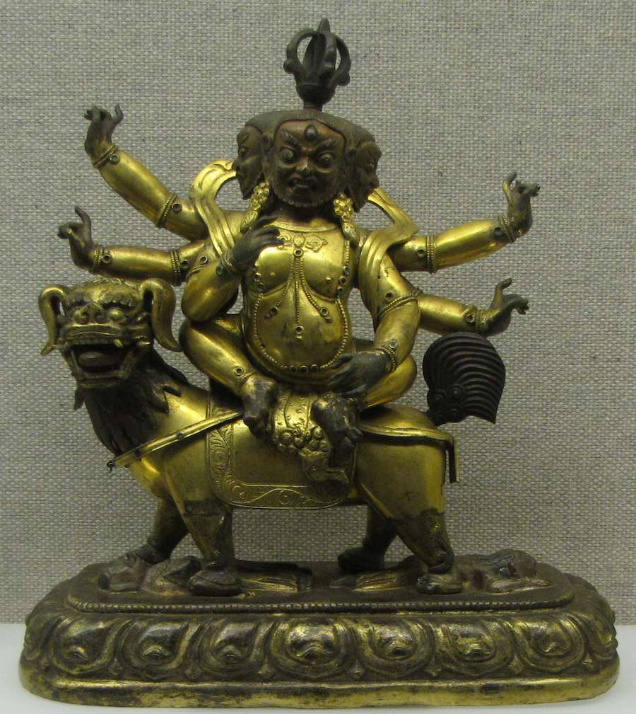 Tibetan, copper figurine of Manjusri