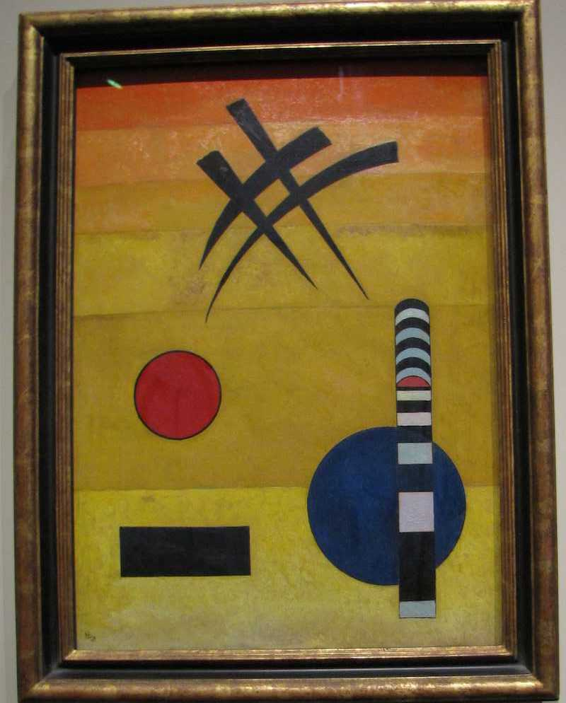abstract painting - Sign by Wassily Kandinsky, 1925