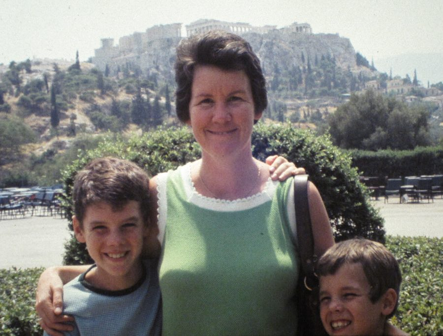 John, Justin, mom at the Acropolis