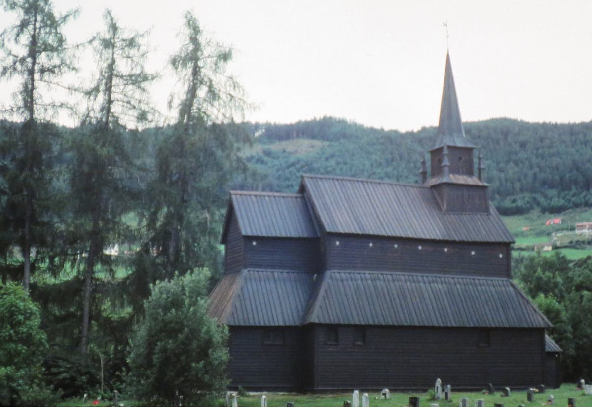 Stave style church in Norway