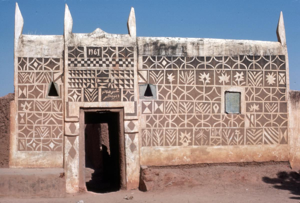 decorated clay house in Nigeria